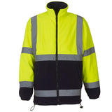 Yoko Hi Vis Fleece Jacket Yellow/Navy