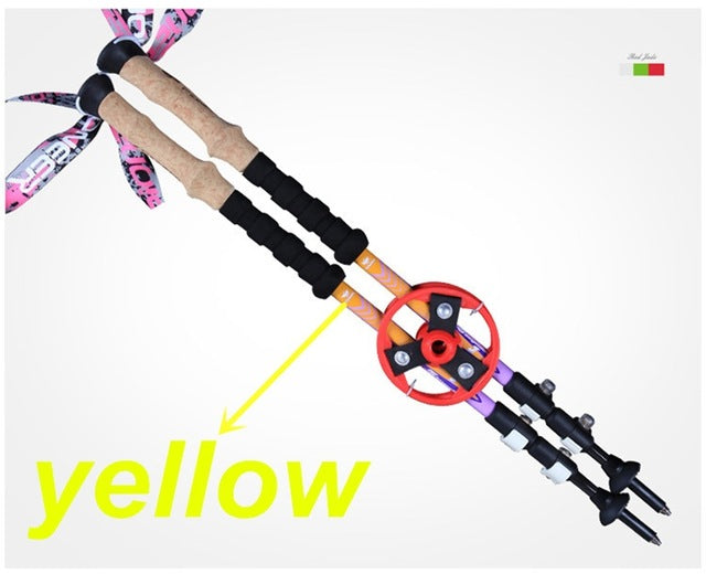 Ultra-light 80% Carbon Fiber Nordic Trekking Poles - Outdoor Livings