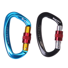 25KN Professional Carabiner D Shape Safety Master Lock Outdoor Rock Climbing Buckle Equipment - Outdoor Livings