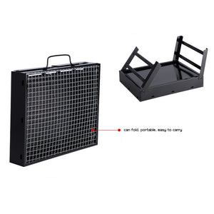 Folding Stainless Steel Grill - Outdoor Livings