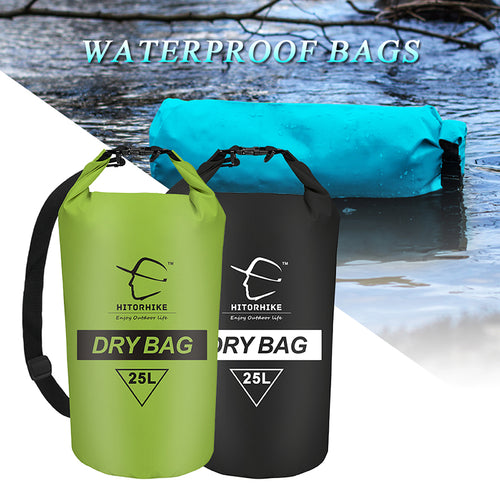 25L Professional Waterproof Dry Storage Bag with Adjustable Straps - Outdoor Livings