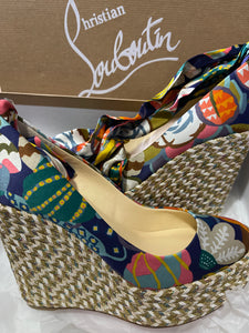 Christian Louboutin Ribbon Tie Sandals sz 36