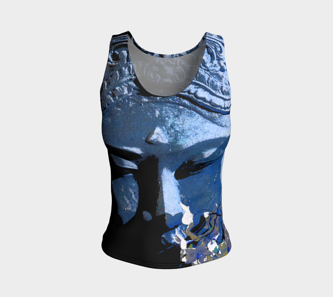 Fitted Tank Top Regular - 'Remembering' - Lapis