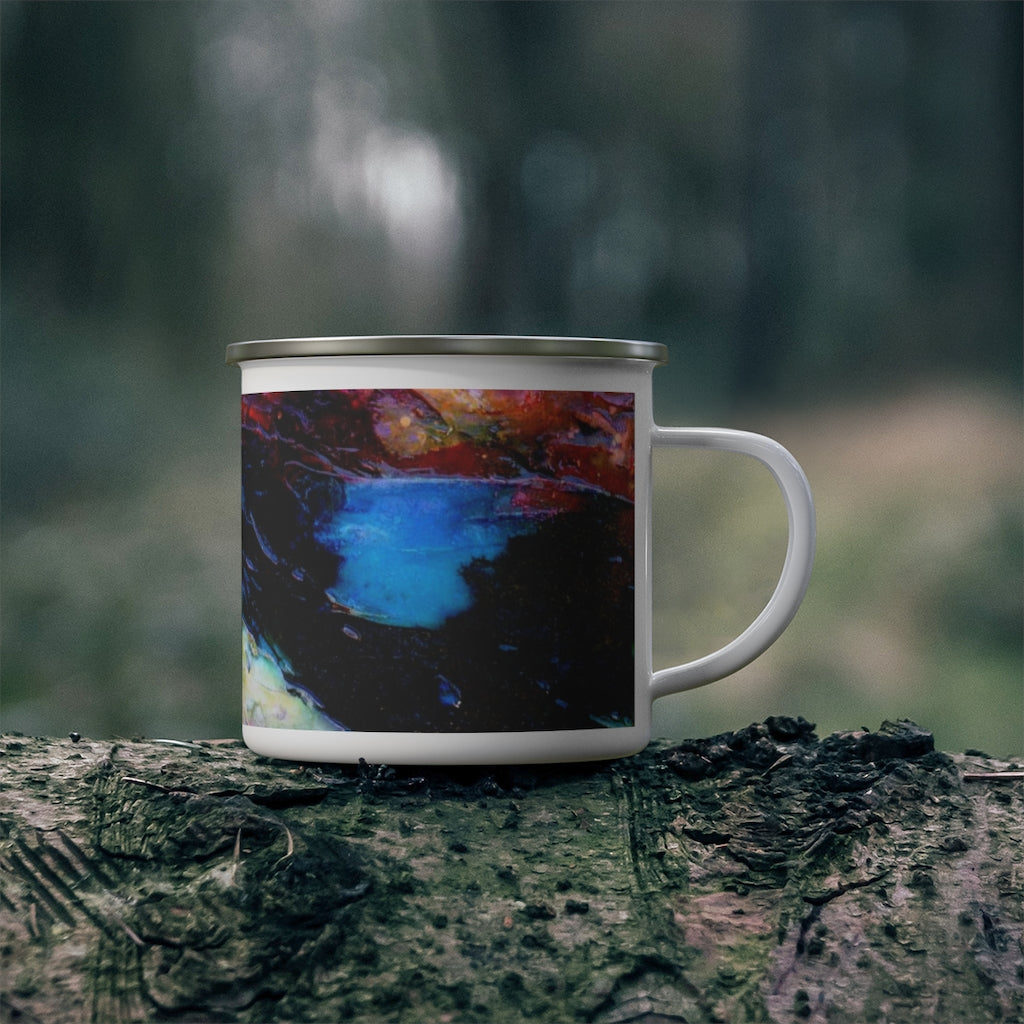 "Enamel Campfire Mug - ""Goodnight Columbia"""