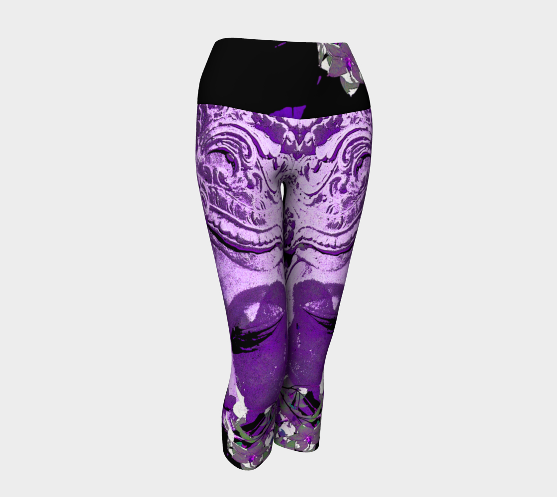 Yoga Capris - 'Remembering' - Amethyst
