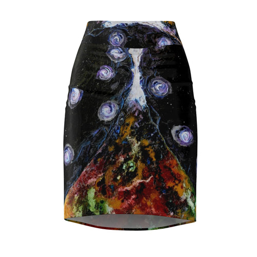 Women's Pencil Skirt - 'Space and Time'