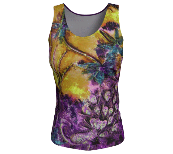 "Fitted Tank Top - ""Bliss-Full 2"" Long"