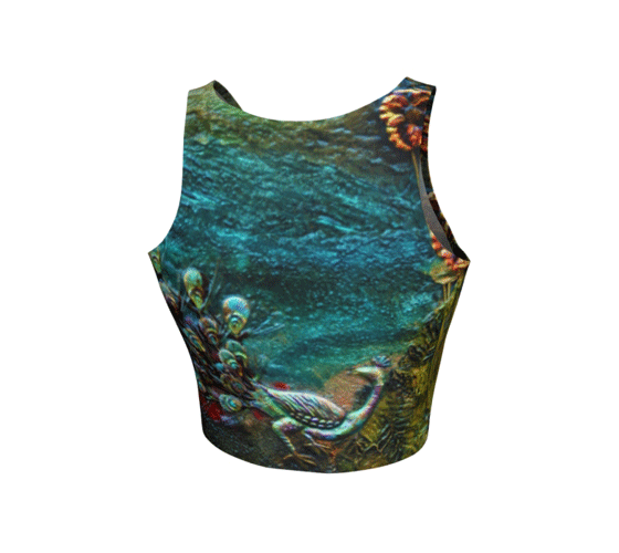 "Athletic Crop Top - ""By the River"""