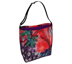 "Day Tote - ""Bliss-Full"" Red/Purple"