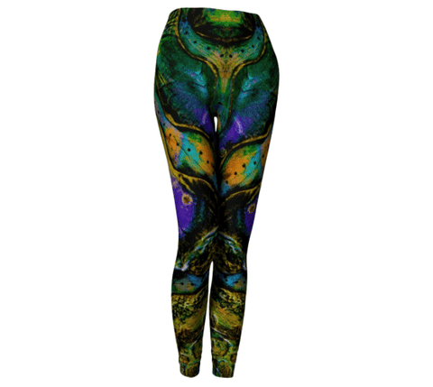 "Yoga Leggings - ""Kuanyin's Sanctum"""