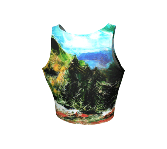 "Athletic Crop Top - ""Heading Home"""