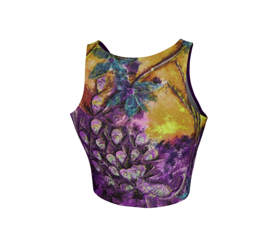 "Athletic Crop Top - ""Bliss-Full 2"""