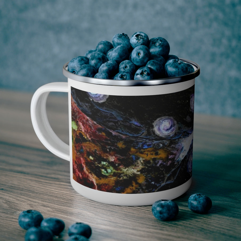 "Enamel Campfire Mug - ""Space and Time"""