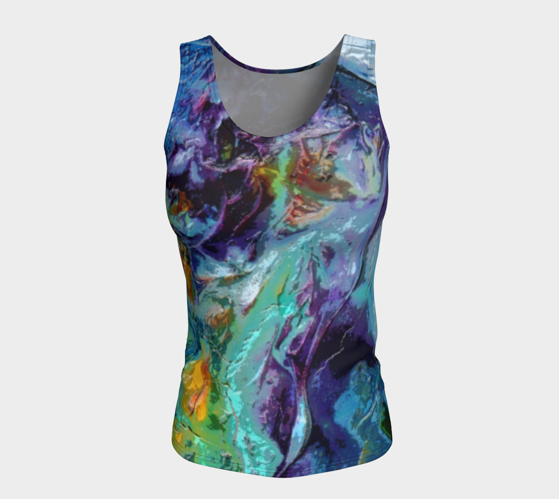 Fitted Tank Top - 'Her Last Sunset' Purple