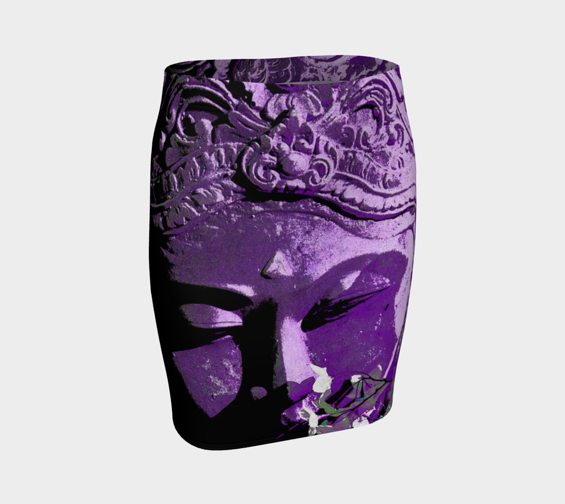 Fitted Skirt - 'Remembering' - Amethyst