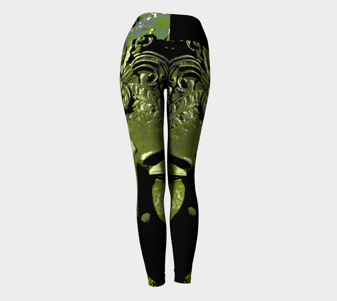 Yoga Leggings - 'Remembering' - Emerald