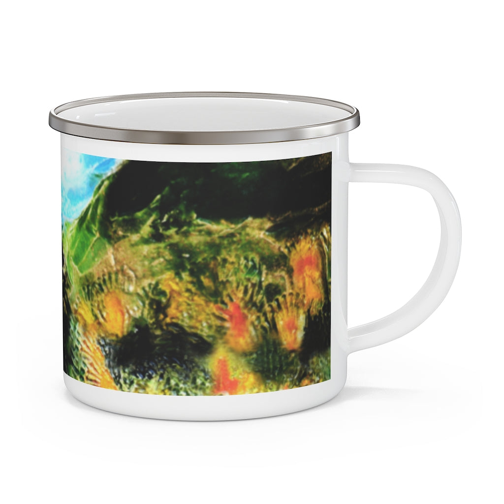 "Enamel Campfire Mug - ""Heading Home One"""