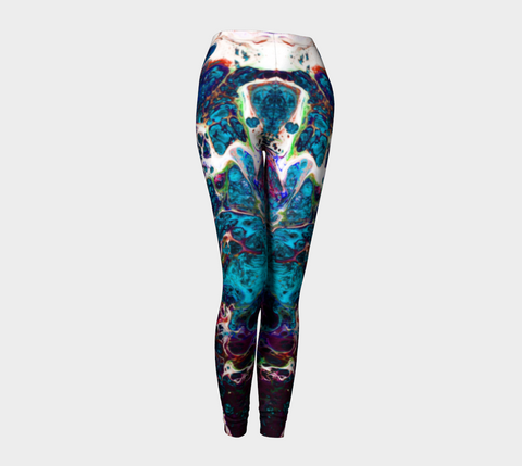 Yoga Leggings - 'Remembering' - Tourmaline