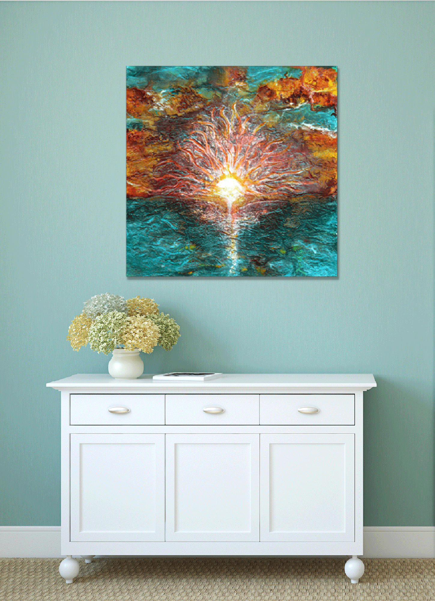 "Metal Print ""When Water Swallows Light"" 3 Sizes"