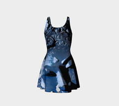 Flare Dress - 'Remembering' - Lapis