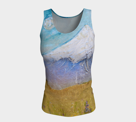 Fitted Tank Top Long - 'Good Night Columbia'