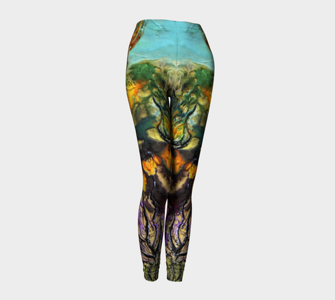 Leggings -'Sand and Foam - Blue/Purple'