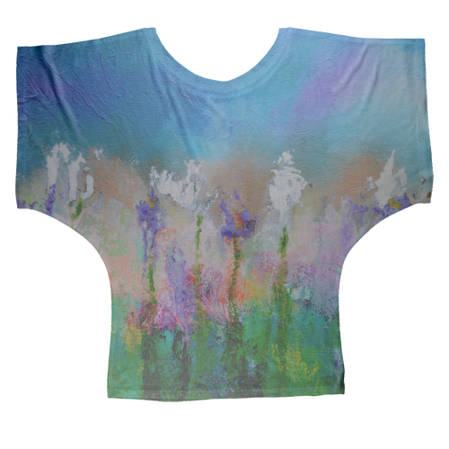 SOMETHING ABOUT SPRING Sublimation Batwing Top