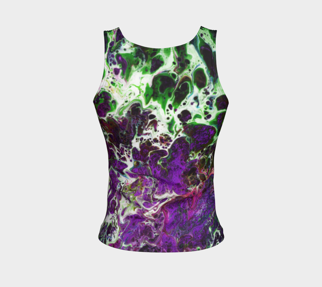 Fitted Tank Top Regular - 'Sand and Foam' - Purple/Green