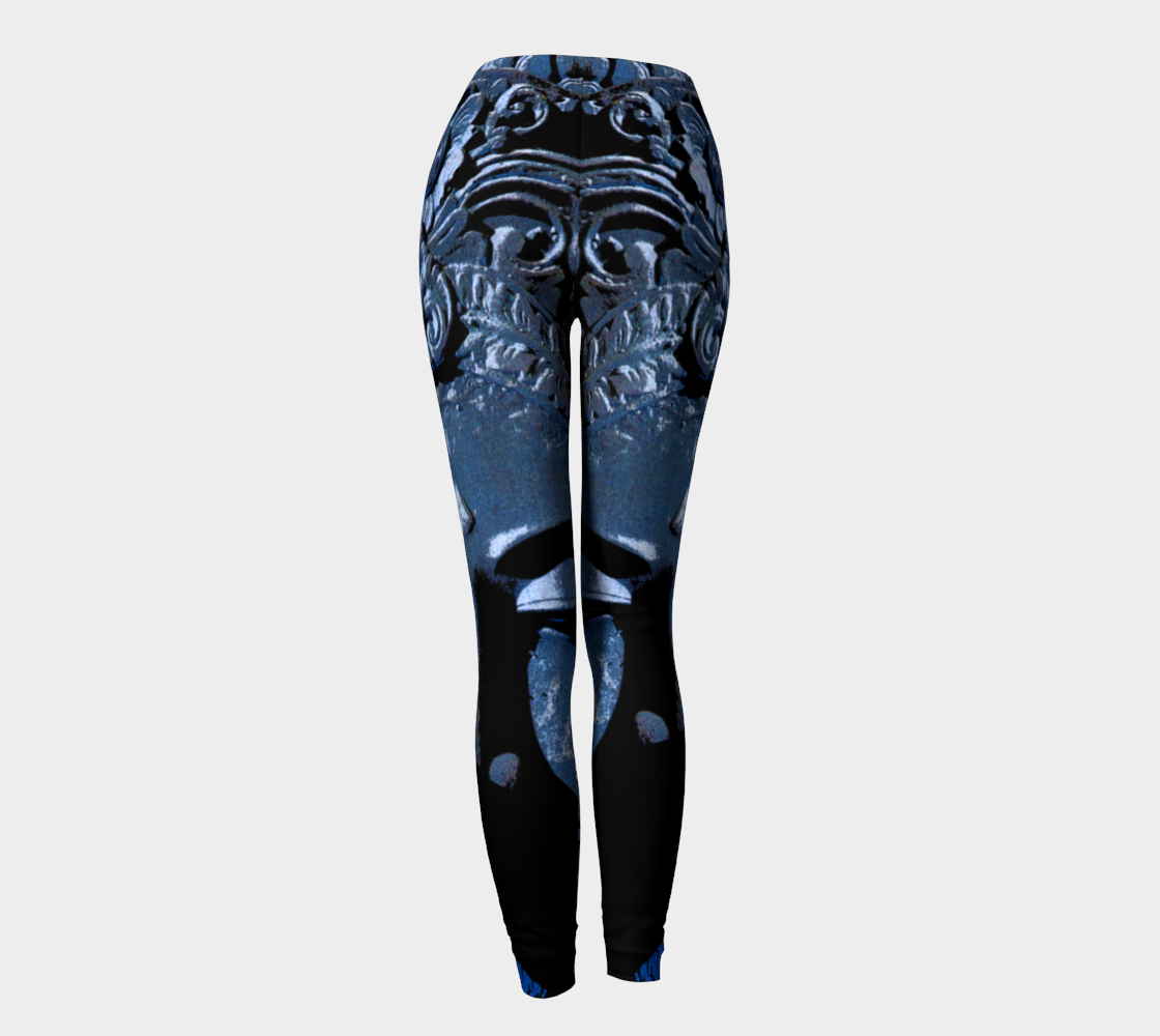 Leggings - 'Remembering' - Lapis