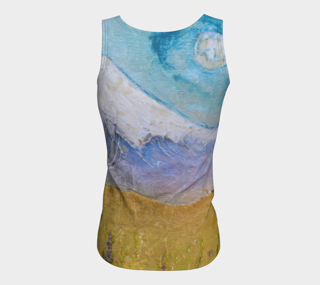 Fitted Tank Top Long - 'Luna in the Hood'