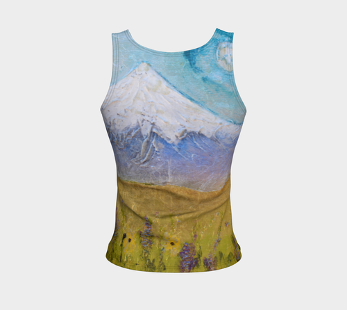 Fitted Tank Top Regular - 'Luna in the Hood'