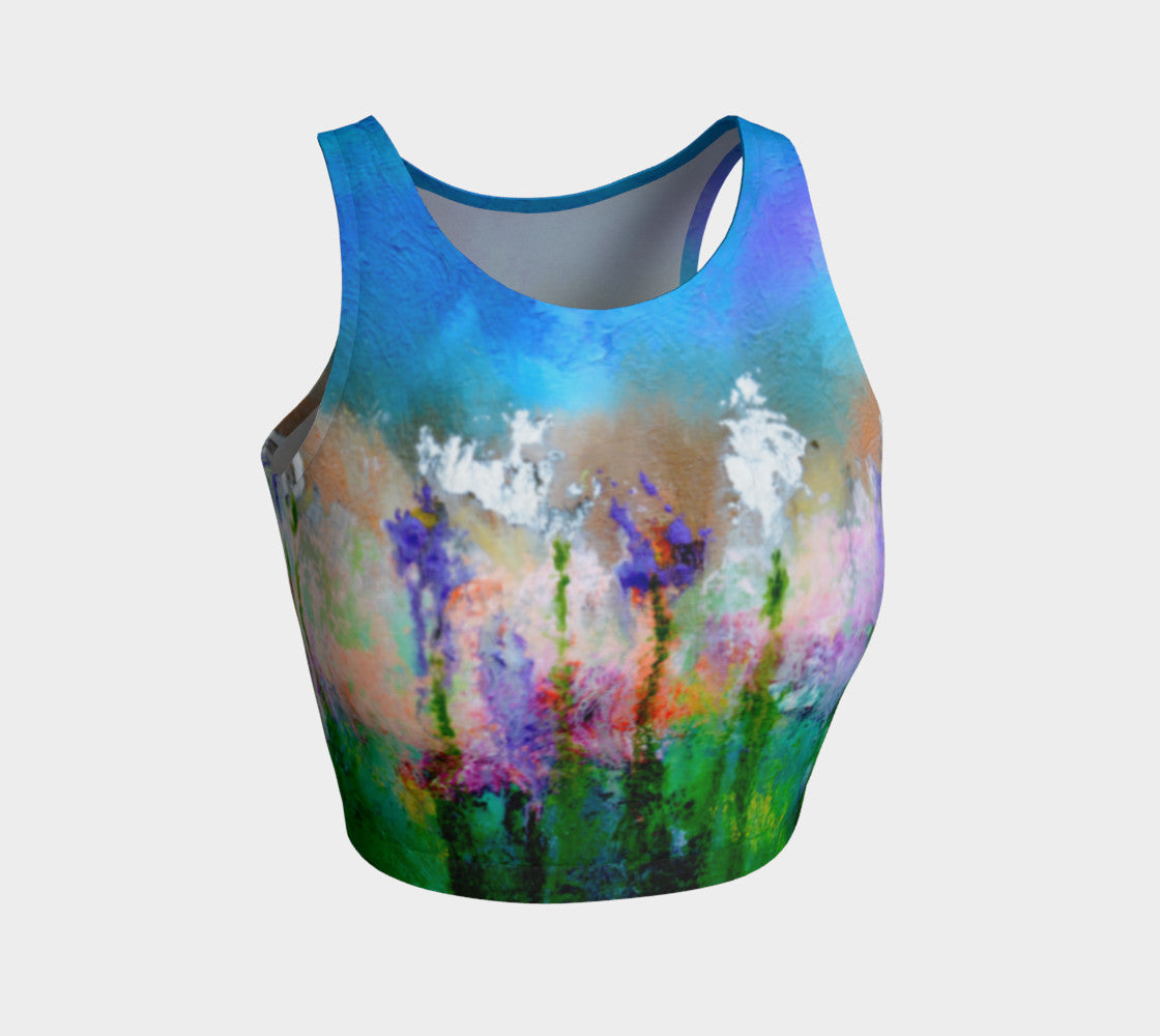 Athletic Crop Top 'Something About Spring'