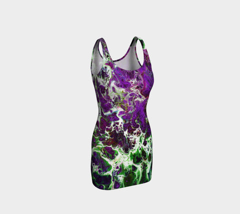 Bodycon Dress - 'Remembering' - Amethyst