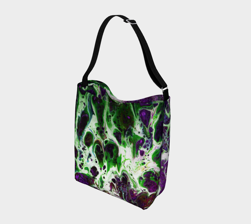 Day Tote - 'Sand and Foam - Purple/Green'