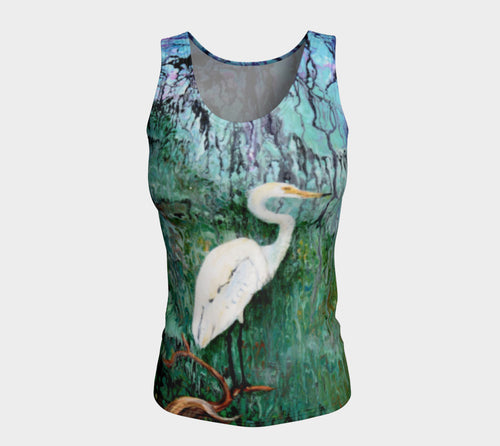 Fitted Tank Top Long - 'The Wait'