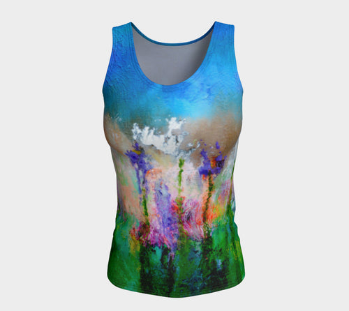 Fitted Tank Top Long - 'Something About Spring'