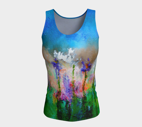 Fitted Tank Top Regular - 'Palouse Falls' - Mosaic Effect