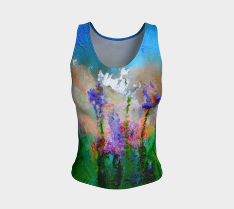 Fitted Tank Top Regular - 'Remembering' - Emerald