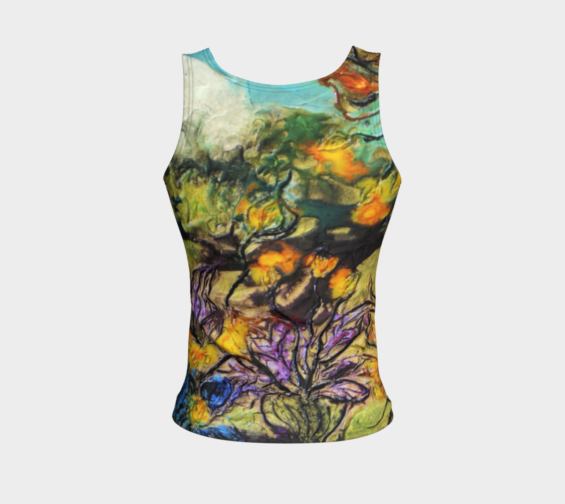 Fitted Tank Top Regular - 'Garden View'