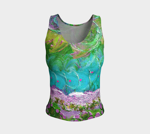 Fitted Tank Top Regular - 'Remembering' - Amethyst