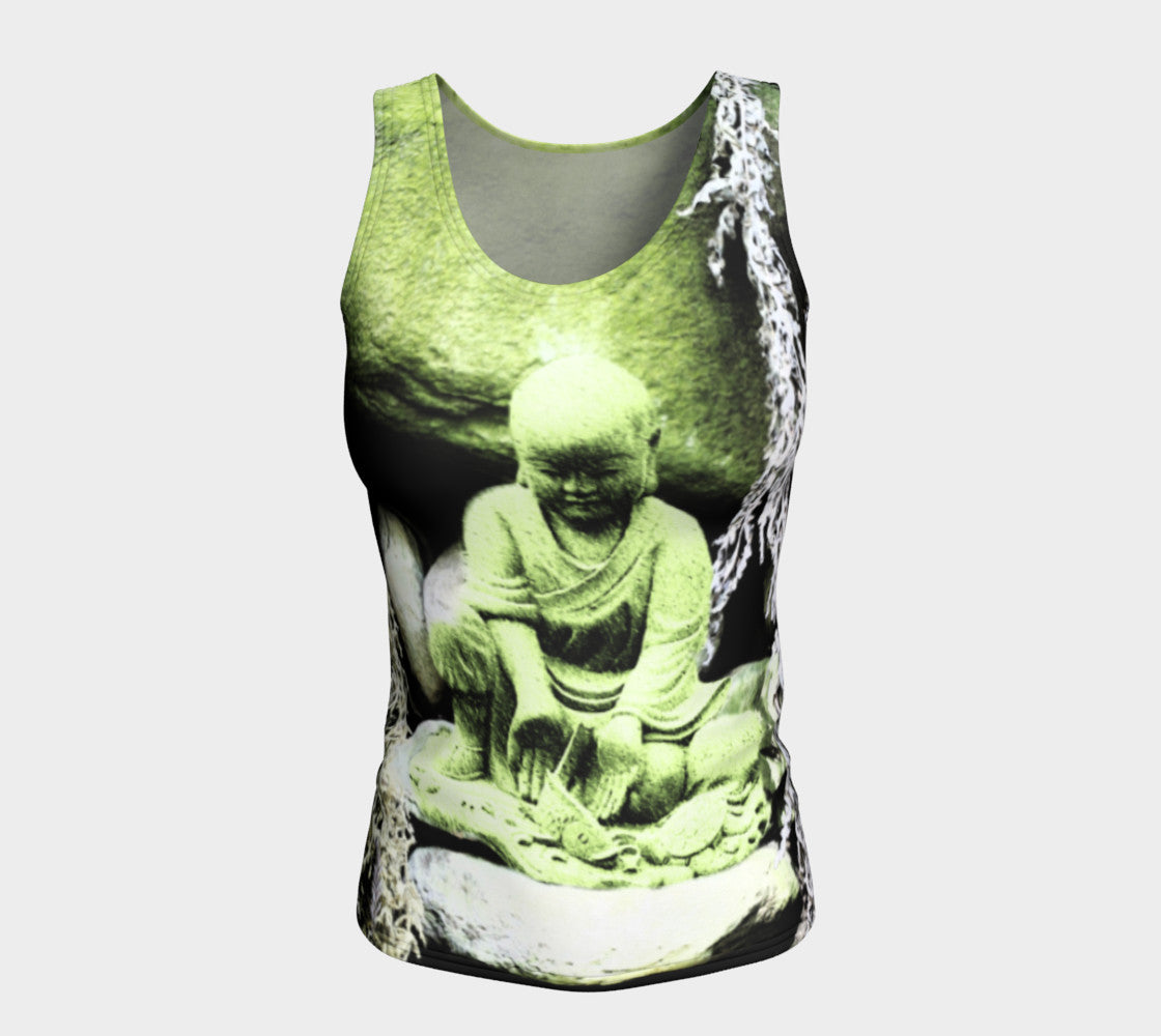 Fitted Tank Top - 'Buddha Releases' - Long