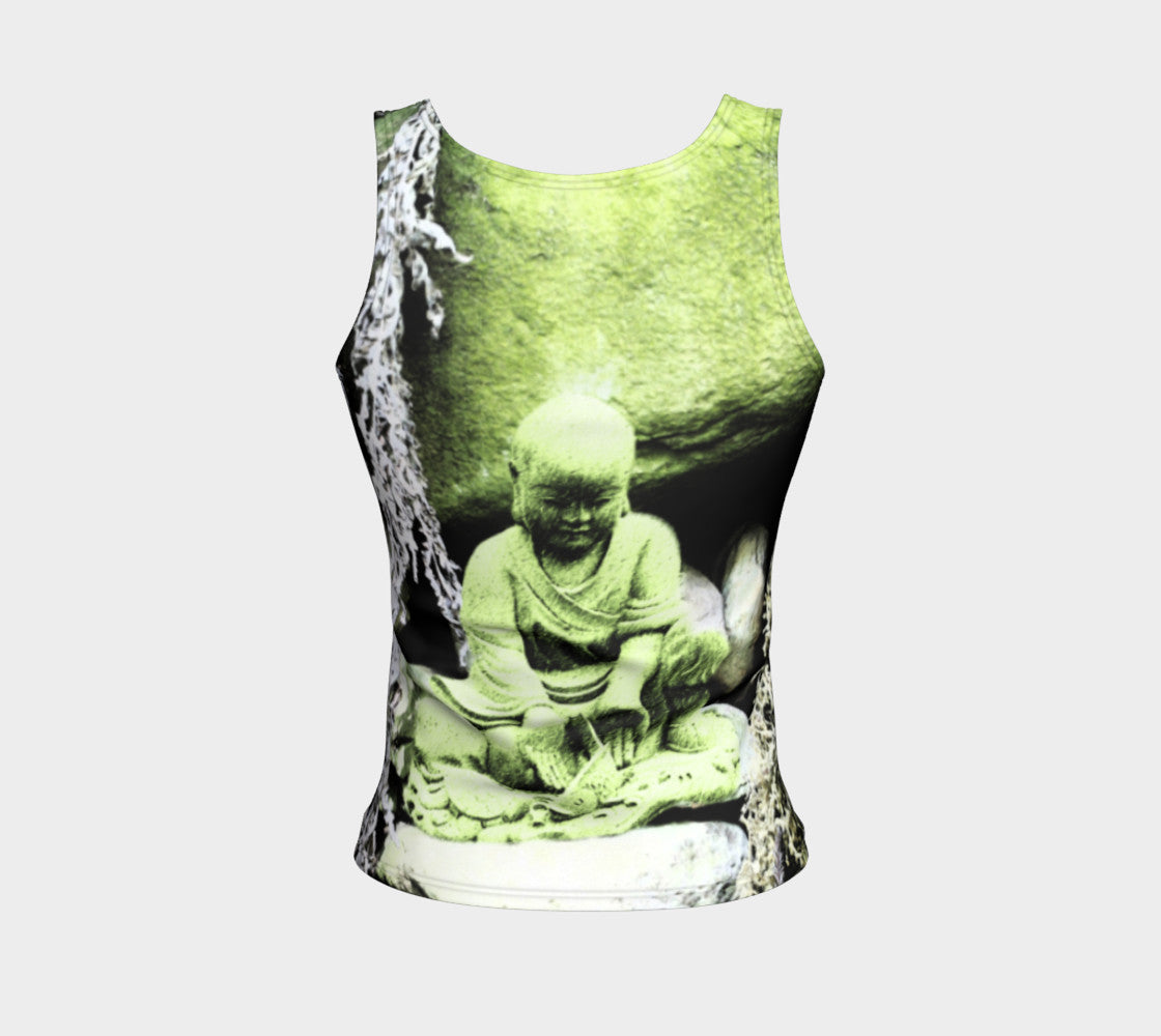 Fitted Tank Top - 'Buddha Releases' - Regular