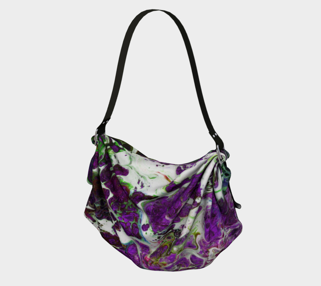 Origami Tote - 'Sand and Foam' - Purple/Green