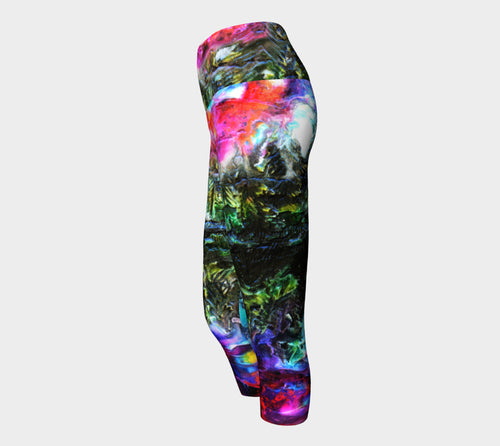Yoga Capris - 'One Night at the Pond'