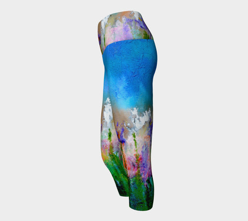 Yoga Capris - 'Something About Spring'