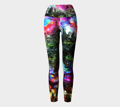 Yoga Leggings - 'One Night at the Pond'