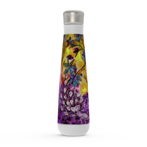 "Water Bottle - ""Bliss-Full"" Purple/Gold"