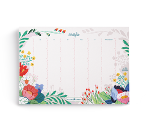 Weekly Planner Pad by Ana Sanfelippo  (52 undated Sheets per Notepad)