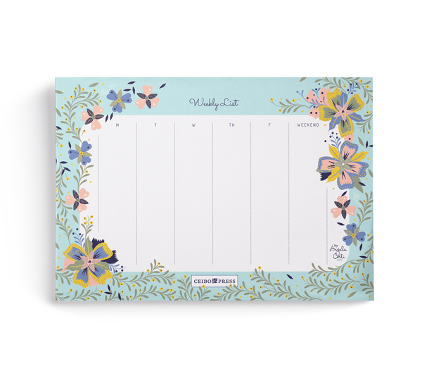 Weekly Planner Pad by Angela Corti  (52 undated Sheets per Notepad)