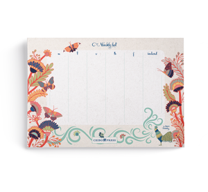 Weekly Planner Pad by Laura Varsky (52 undated Sheets per Notepad)